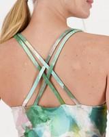 Venus Abstract Printed Vest  -  palegreen