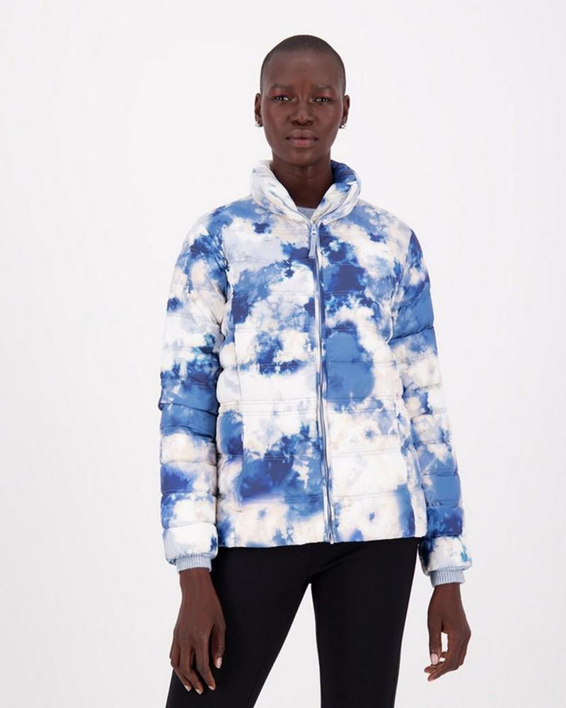 Ann Down Puffer Jacket -  blue