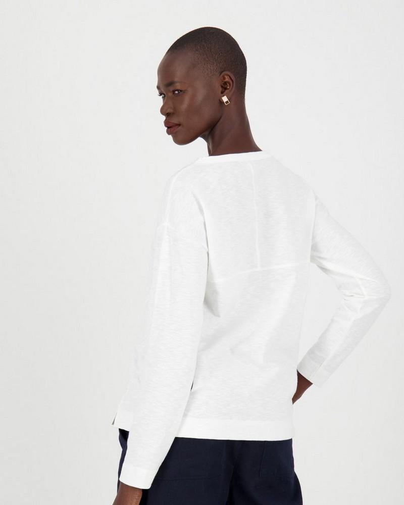 Bella Slub T-Shirt -  white