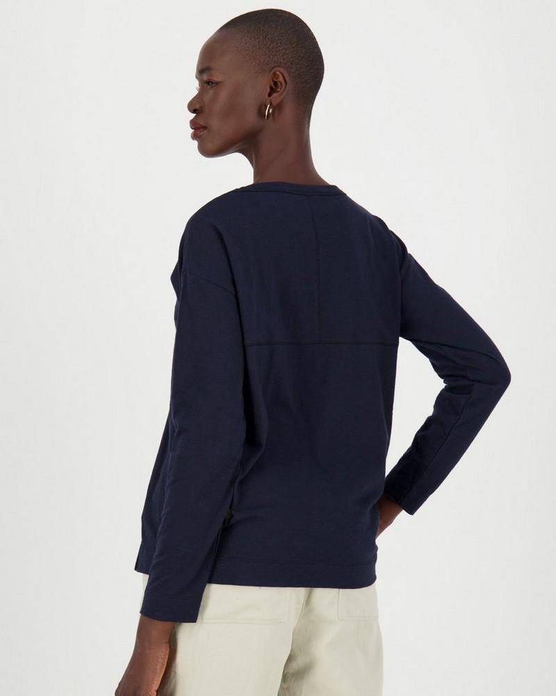 Bella Slub T-Shirt -  navy