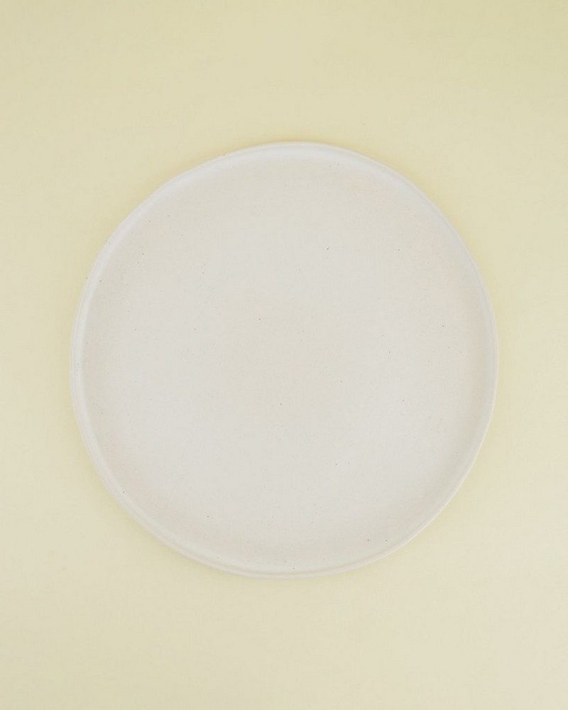 Pret-a-Pot Blom Dinner Plate  -  milk
