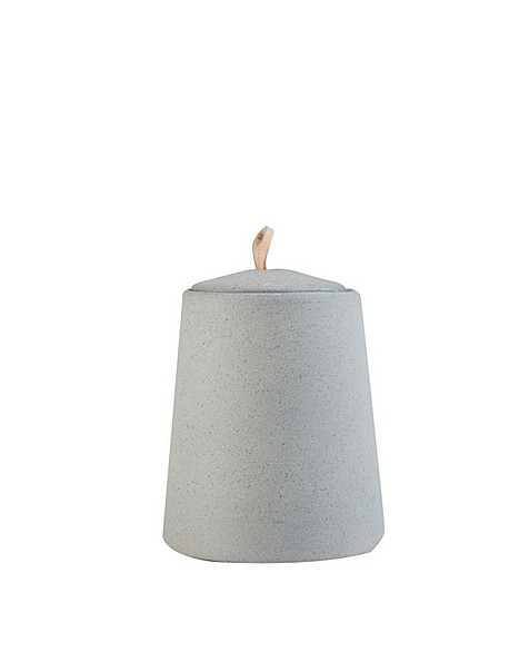 Chalky Candle with Lid -  grey