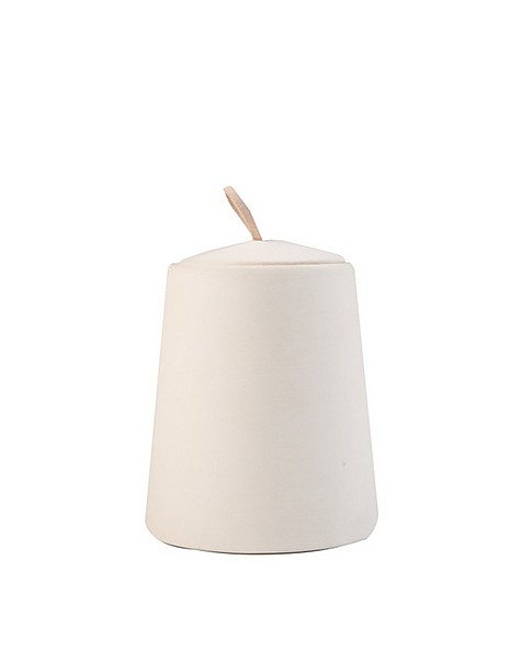 Chalky Candle with Lid -  milk