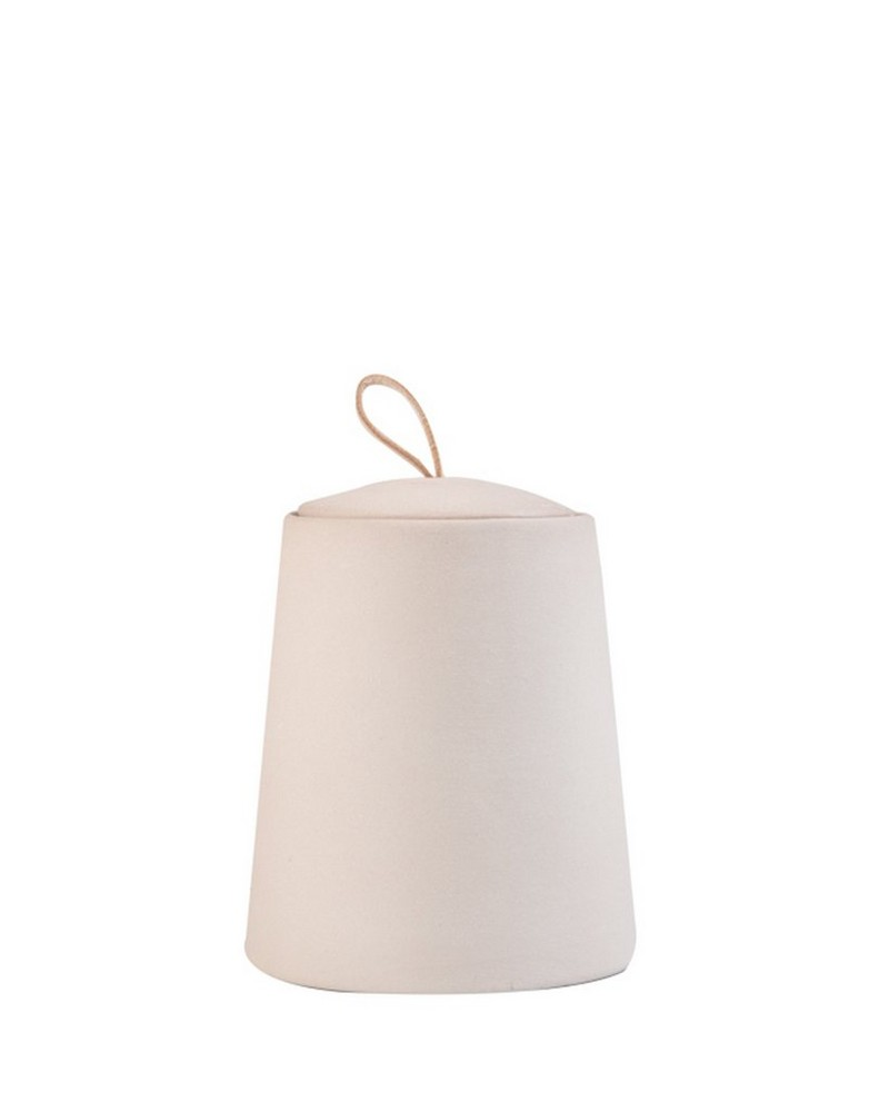 Chalky Candle with Lid -  pink