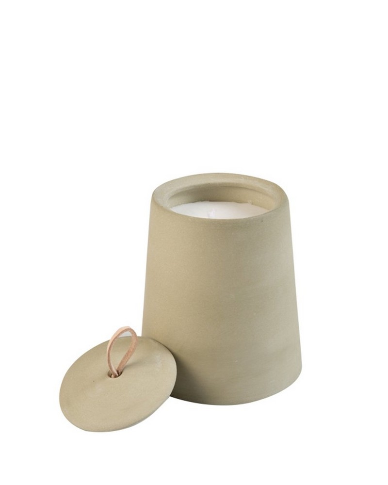 Chalky Candle with Lid -  sage