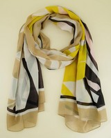 Ione Abstract Scarf -  pink