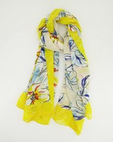 Tallulah Lily Floral Scarf -  yellow