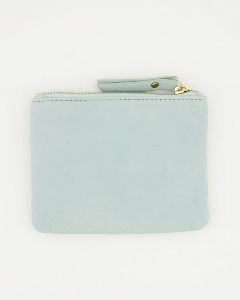 Moira Leather Pouch -  mint