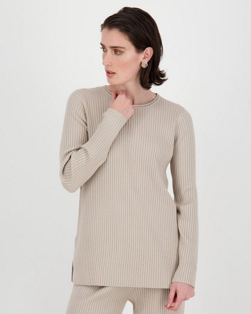 Ribbed Loungewear Set -  stone