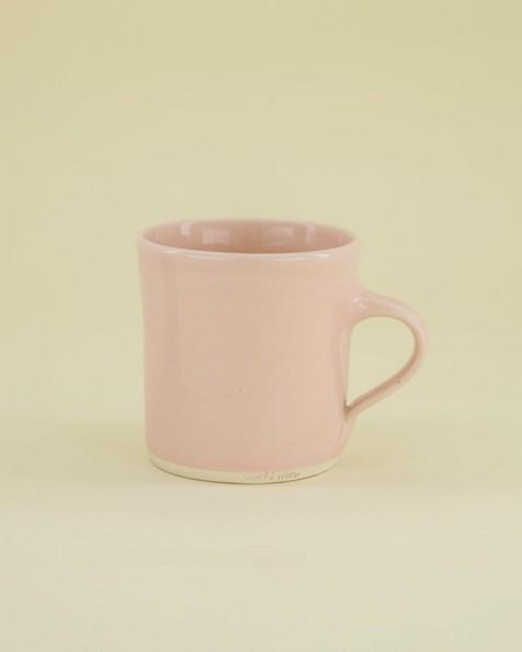 Wonki Ware Oyster Mug -  pink