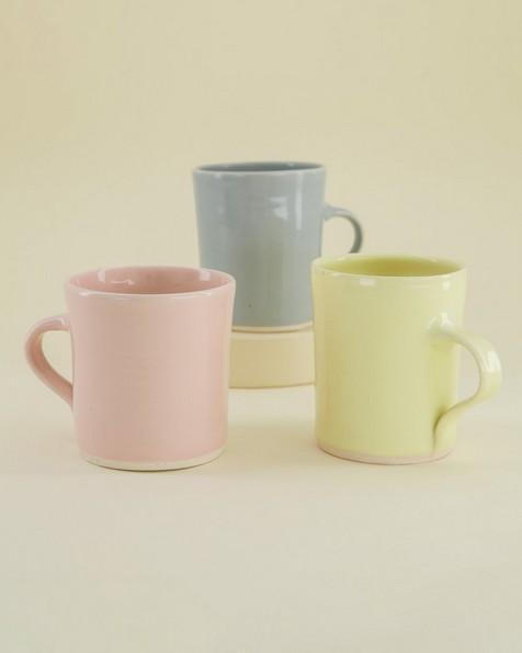 Wonki Ware Oyster Mug -  yellow