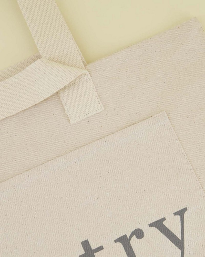 Janna Cotton Shopper Bag -  milk