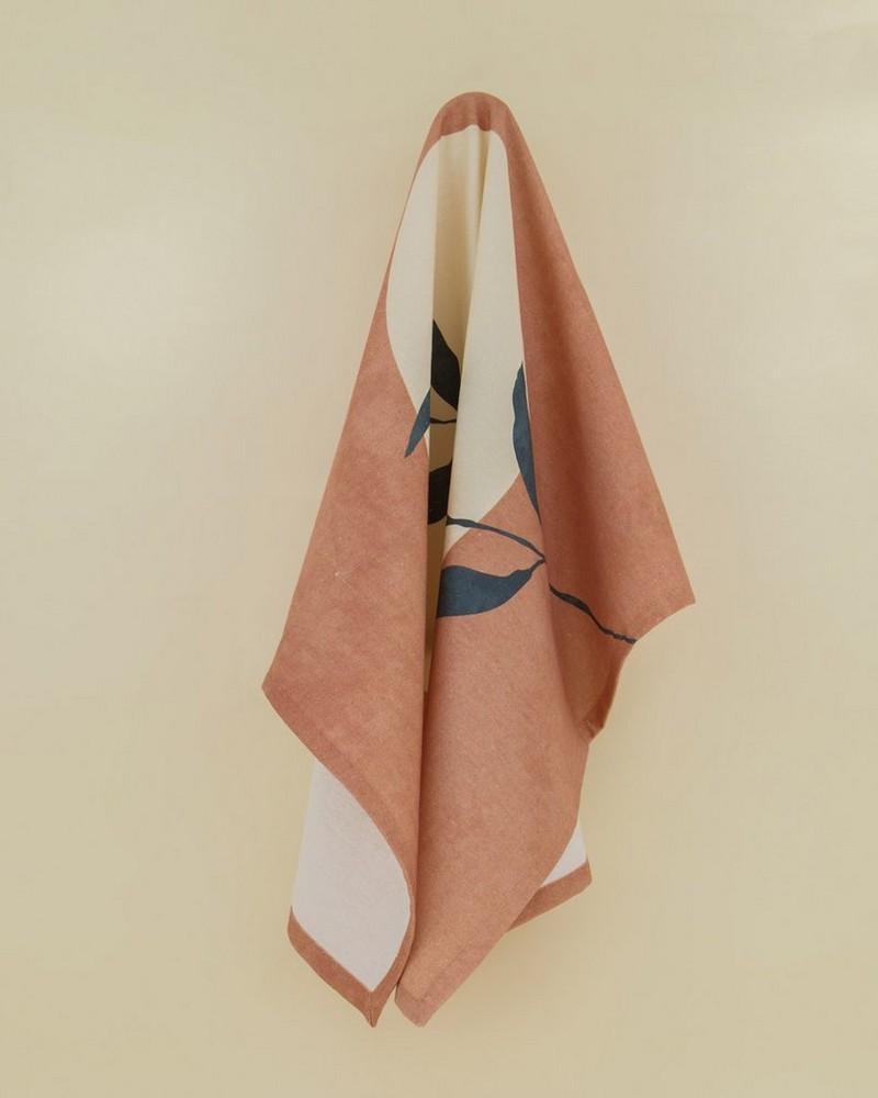 A New Leaf Tea Towel -  pink