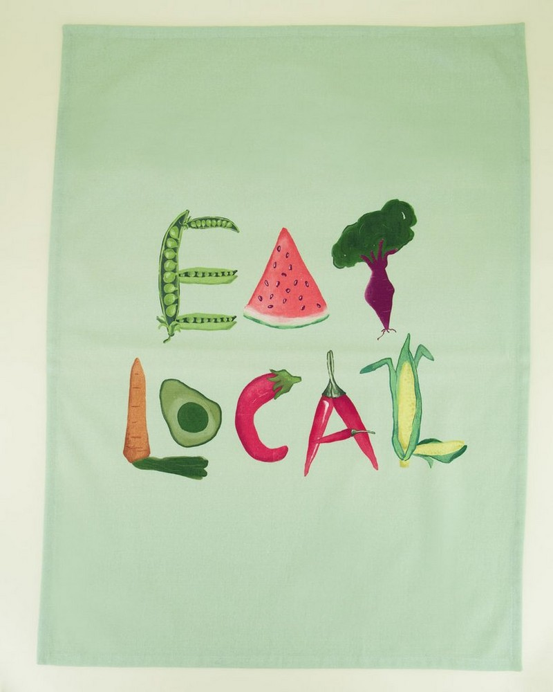 Eat Local Tea Towel -  assorted