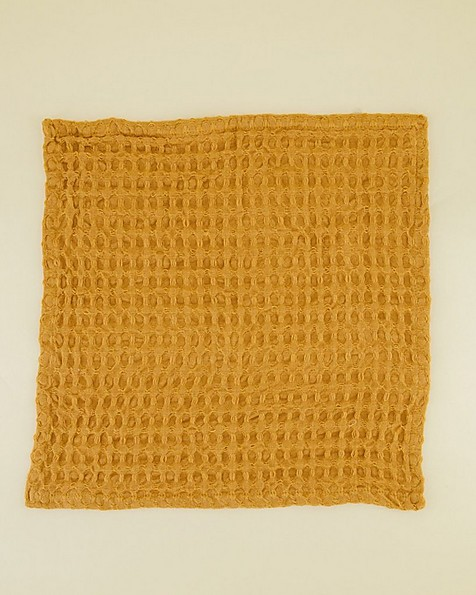Waffle Dish Cloth (Three-Pack) -  ochre