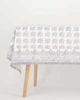 Amrita Embroidered Tablecloth -  navy