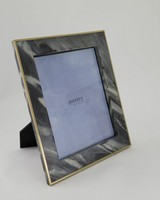 Marble Frame With Brass Border -  black