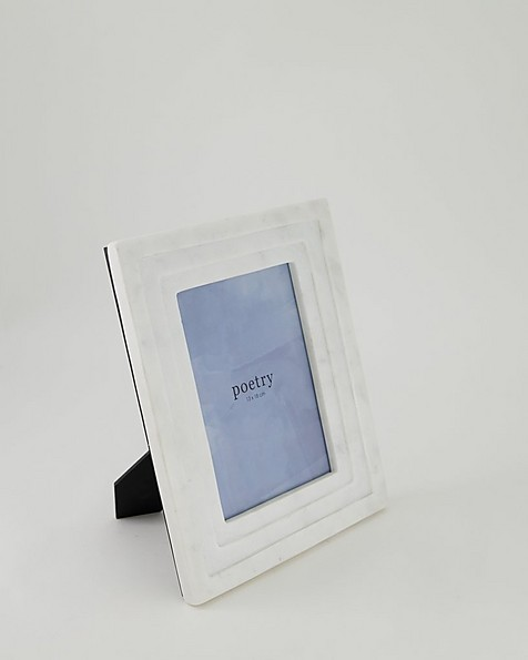 Marble Tiered Frame -  white