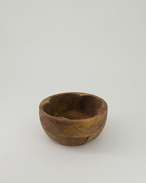 Wooden Flower Bowl Small -  brown