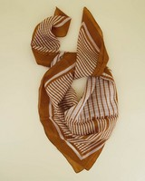Autry Abstract Silk Scarf -  stone