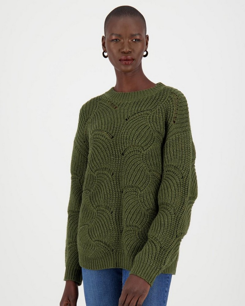 Leighton Jumper -  bottlegreen