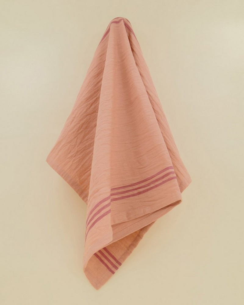 Farmhouse Tea Towel -  dustypink