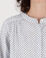Usha Embroidered Blouse -  blue