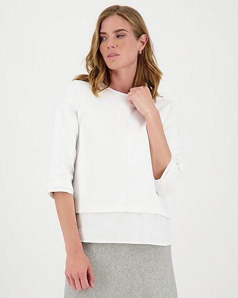 Bea Ponte Relaxed T-Shirt -  white
