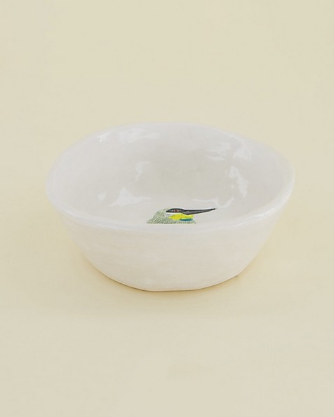 Gemma Orkin Birds Snack Bowl  -  white