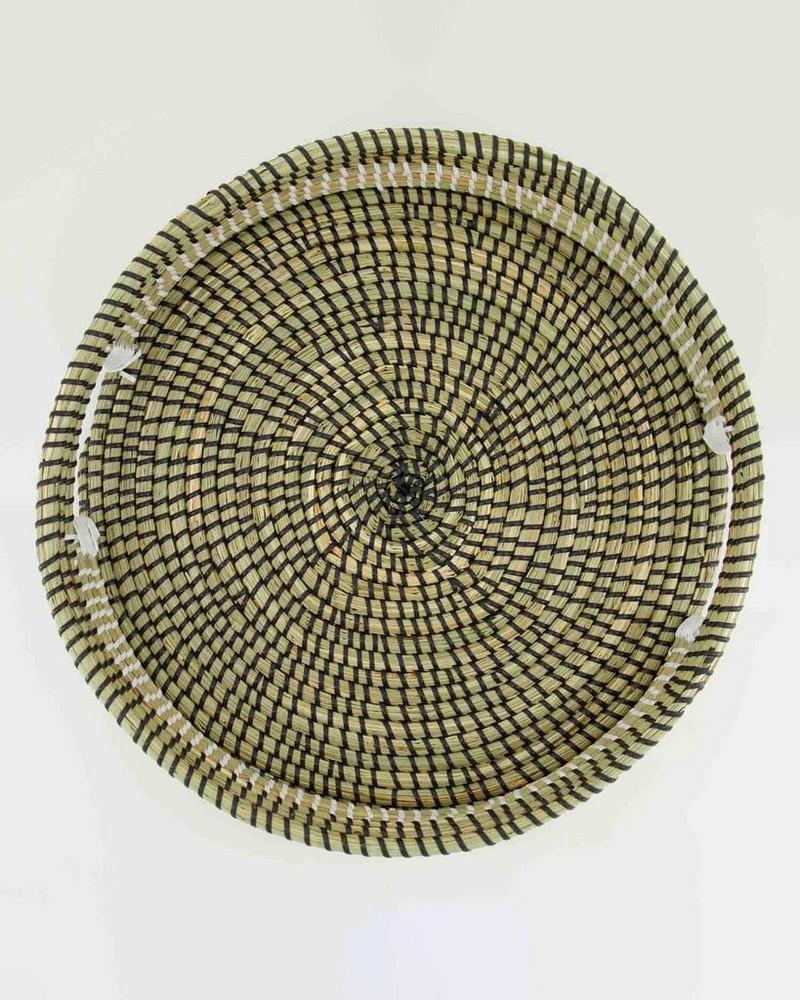 Sadie Seagrass Tray -  black