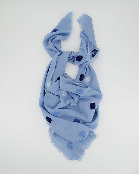 Singita Textural Abstract Scarf -  blue