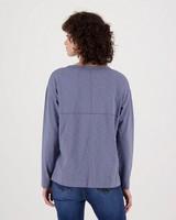 Bella Slub T-Shirt -  blue
