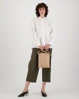 Lily Poplin Blouse -  white