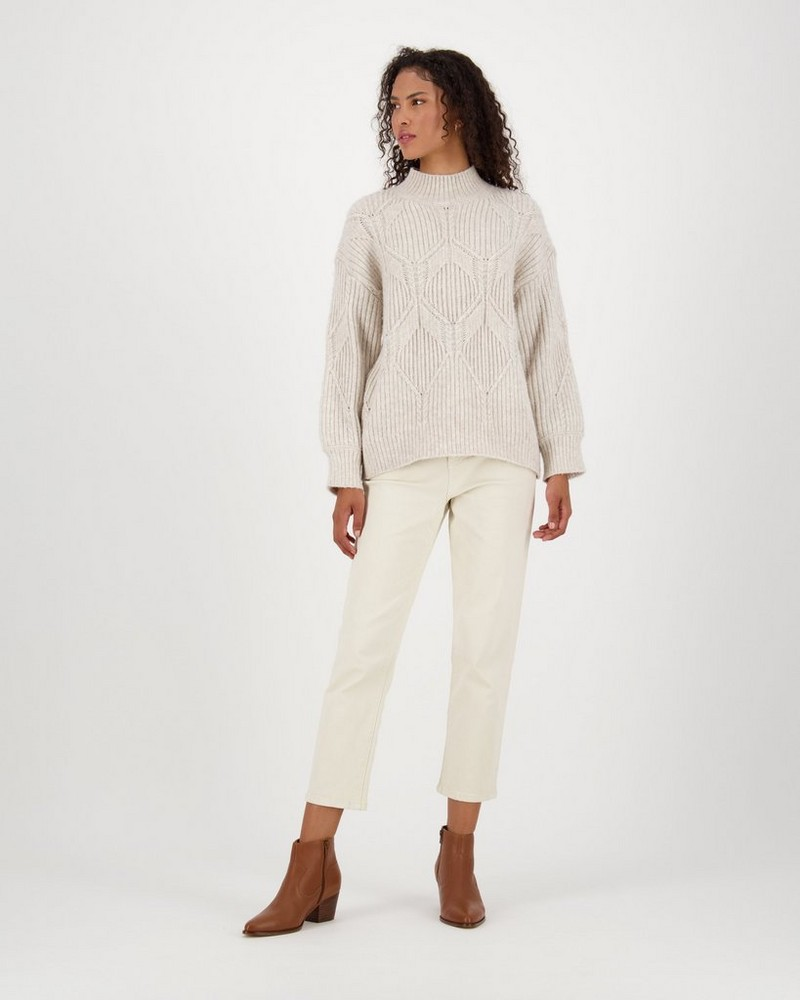 Millie Knitwear -  taupe