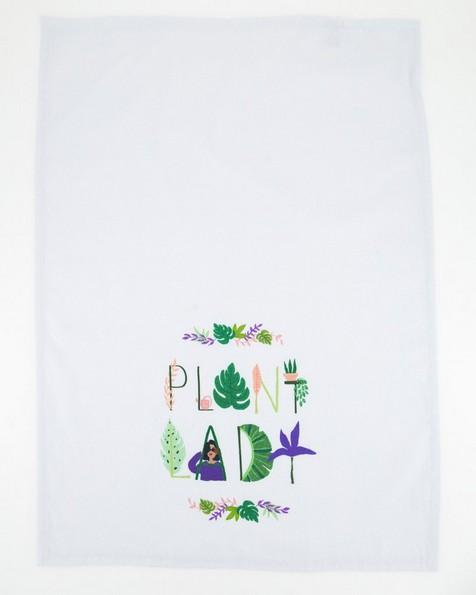 Plant Lady Tea Towel -  assorted