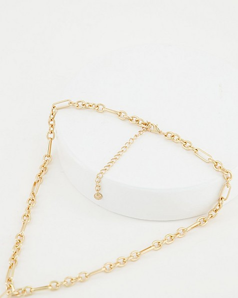 Chain Link Necklace -  gold
