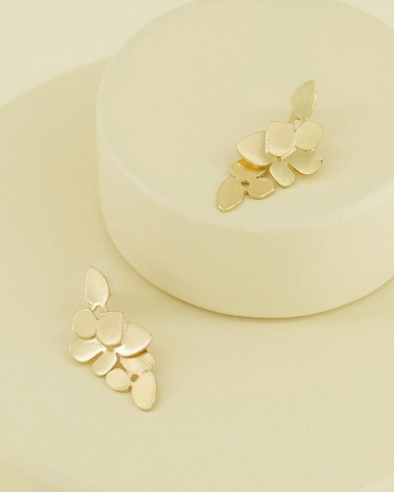Lazercut Leaf Drop ER -  gold