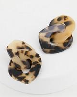 Large Resin Drop Earrings -  brown