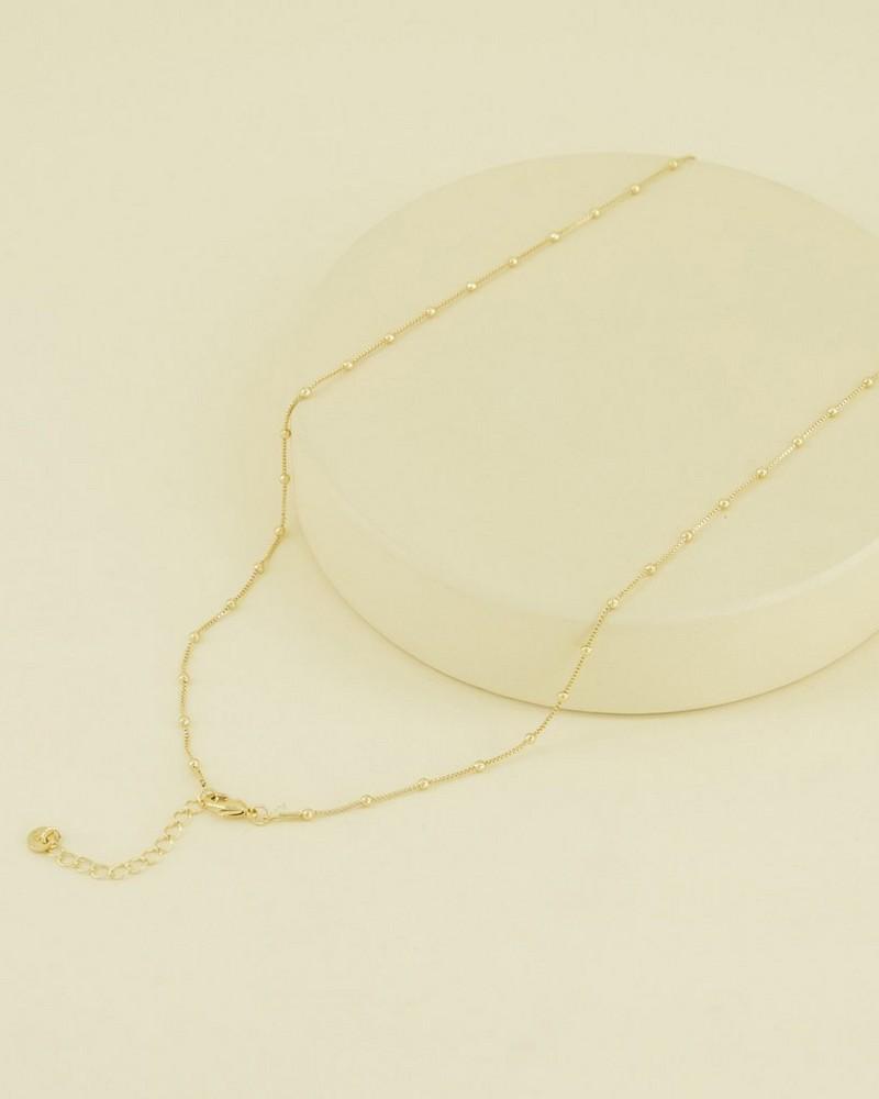 Delicate Satellite Necklace -  black