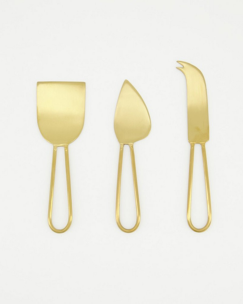 Gold Cut-Out Cheese Set -  gold