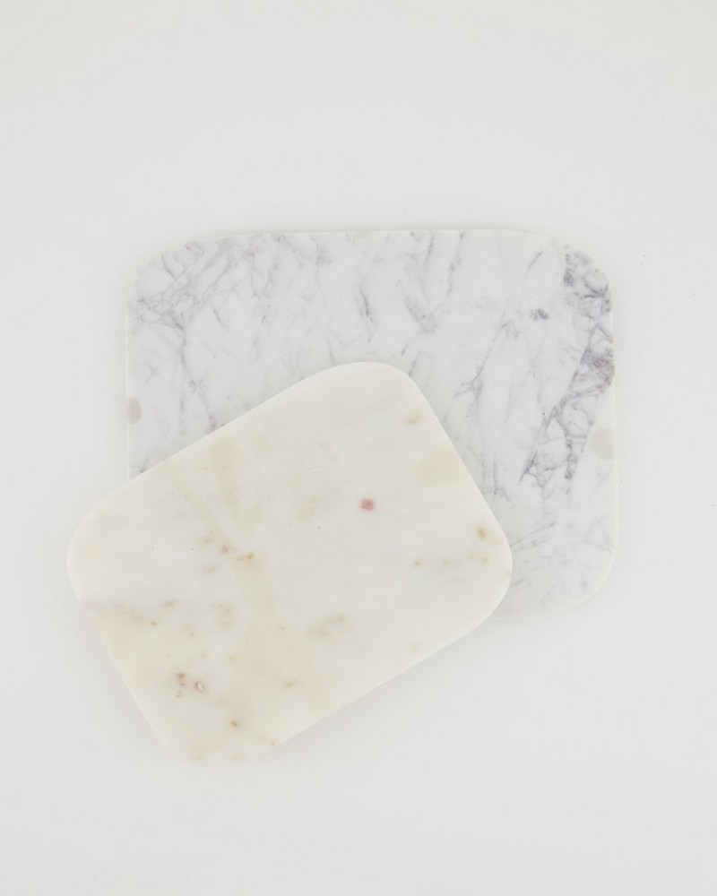 2-Pack Marble Rectangle Board -  white