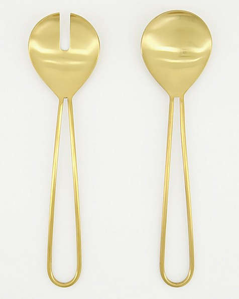Gold Cut-Out Salad Servers  -  gold