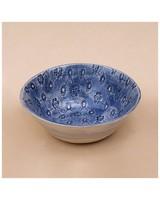 Wonki Ware Patterned Ramekin  -  blue