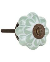 Sage Flower Knob -  sage