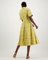 Shea Fit and Flare Dress -  yellow