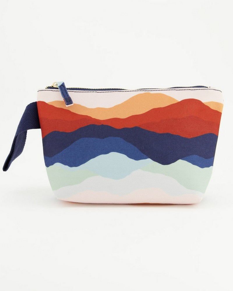 Malia Printed Canvas Pouch -  assorted