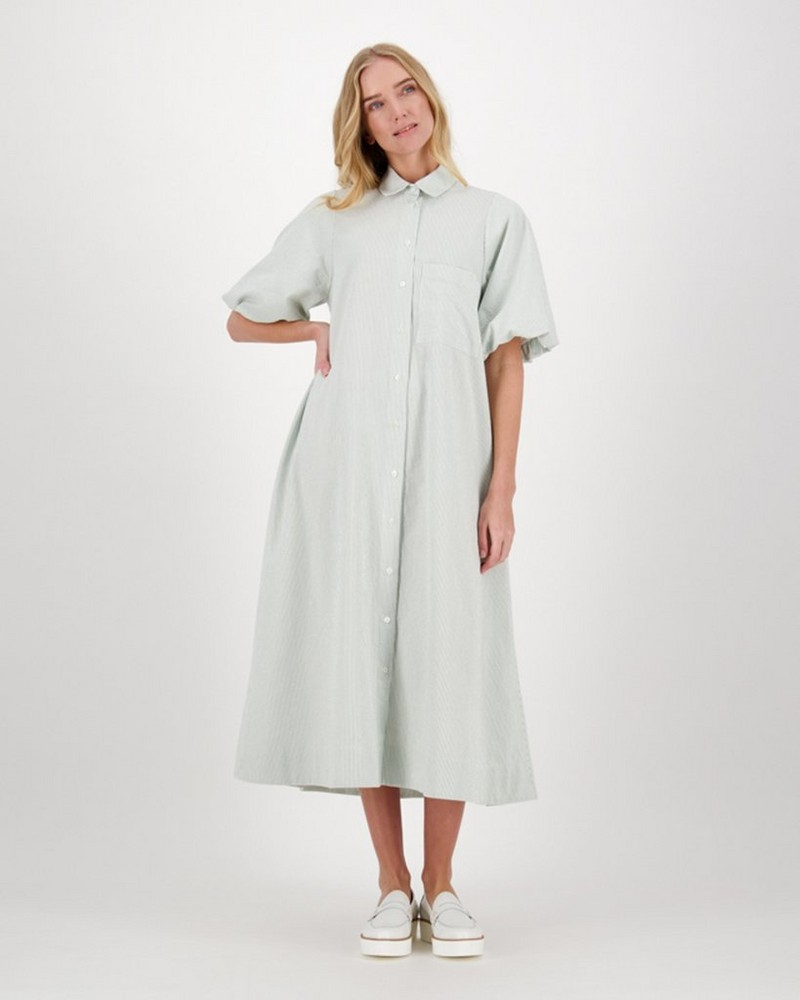 Jude Button-Down Dress -  sage