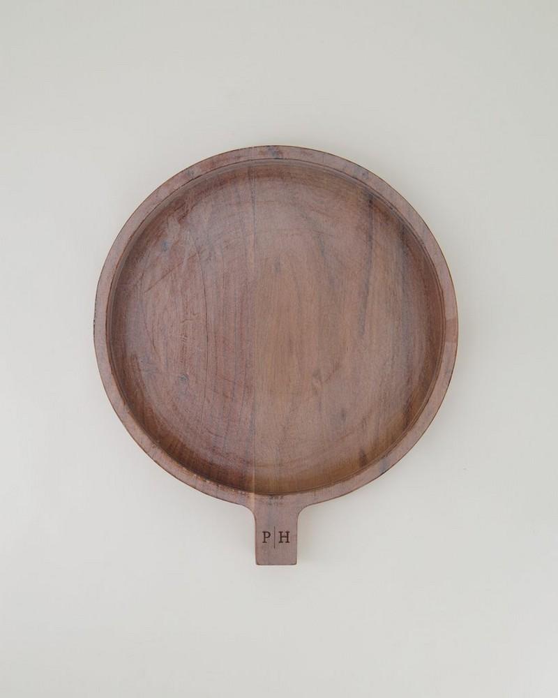 Medium Mango Wood Racket Tray  -  brown