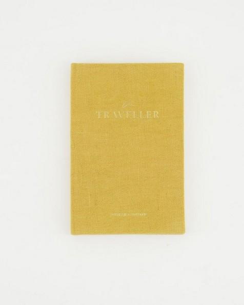 The Traveler Linen Covered Notebook -  ochre