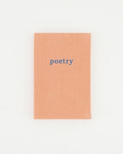 Poetry Linen Notebook -  pink